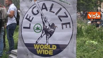 9 - Million marijuana march, il corteo per la legalizzazione della cannabis per le strade di Roma