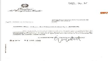 1 - Caso Fiber, ecco i documenti trasmessi da Conte