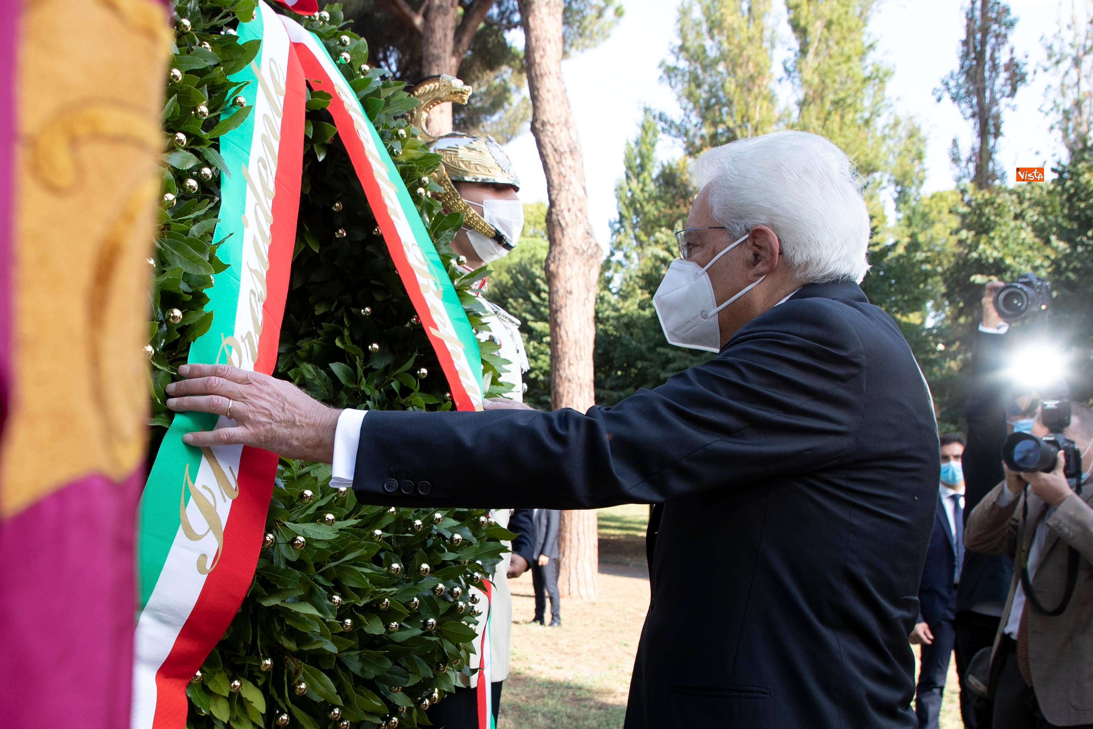 08-09-20 77  anniversario della Difesa di Roma Mattarella a Porta San Paolo e al Parco della Resistenza_09