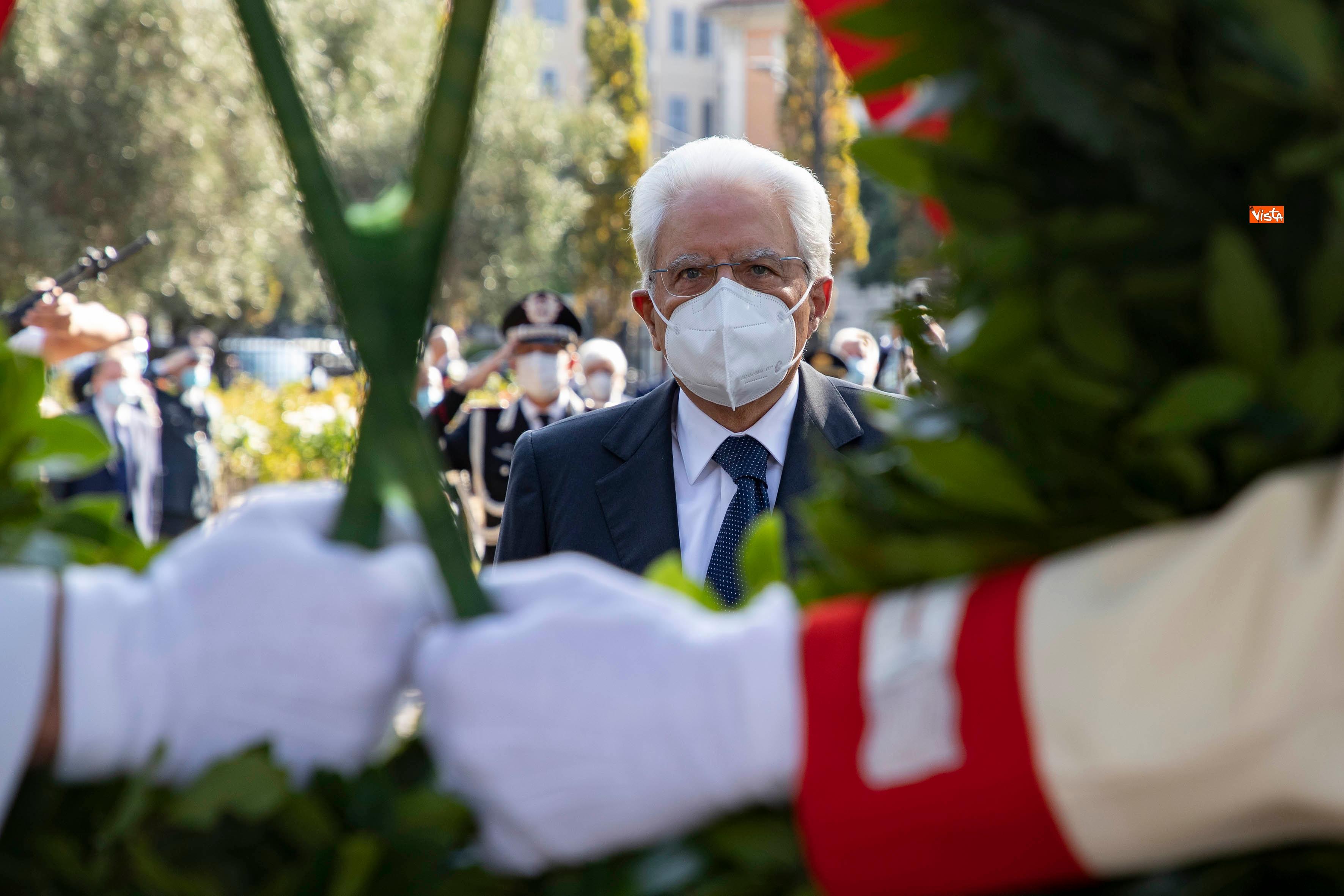 08-09-20 77  anniversario della Difesa di Roma Mattarella a Porta San Paolo e al Parco della Resistenza_10