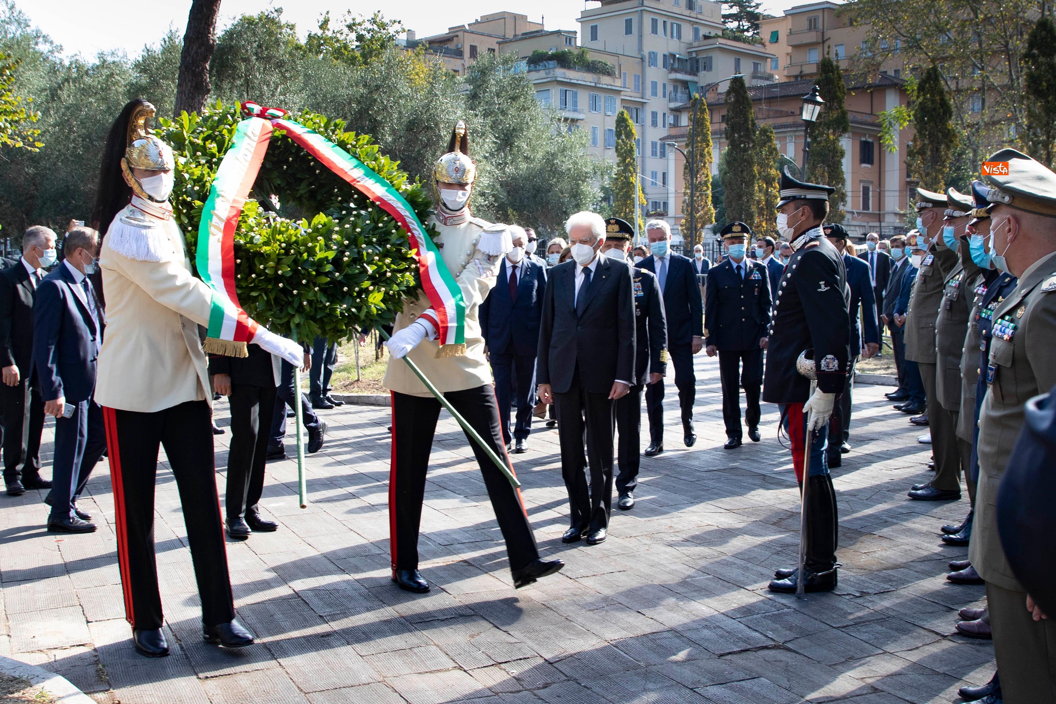 08-09-20 77  anniversario della Difesa di Roma Mattarella a Porta San Paolo e al Parco della Resistenza_08