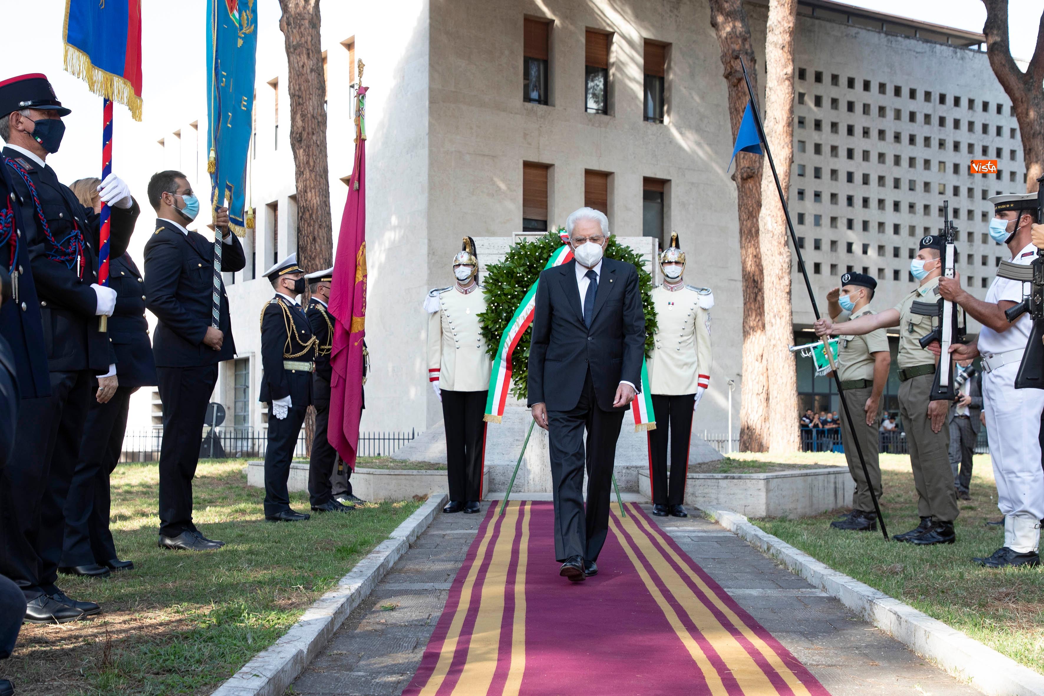 08-09-20 77  anniversario della Difesa di Roma Mattarella a Porta San Paolo e al Parco della Resistenza_11