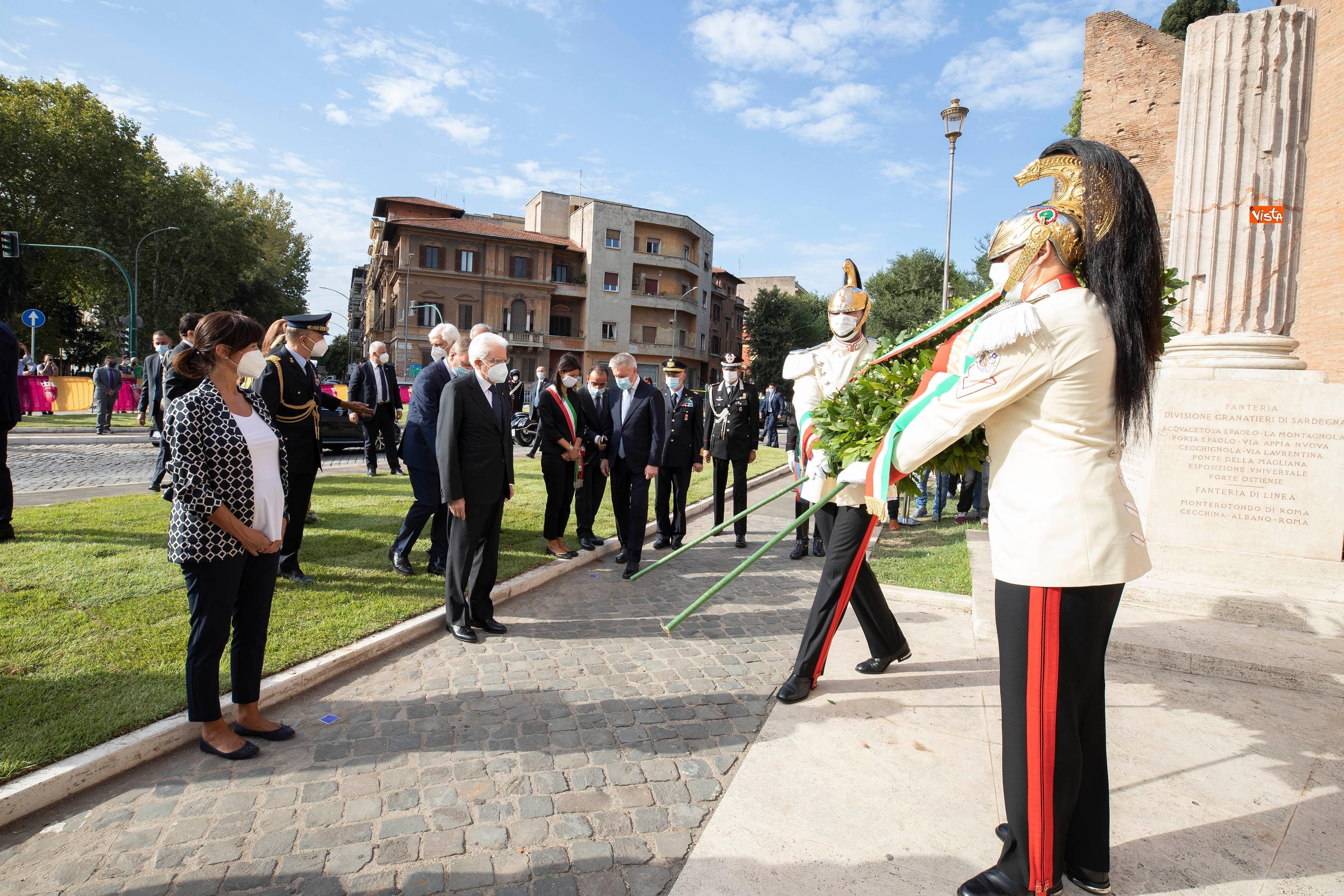 08-09-20 77  anniversario della Difesa di Roma Mattarella a Porta San Paolo e al Parco della Resistenza_02