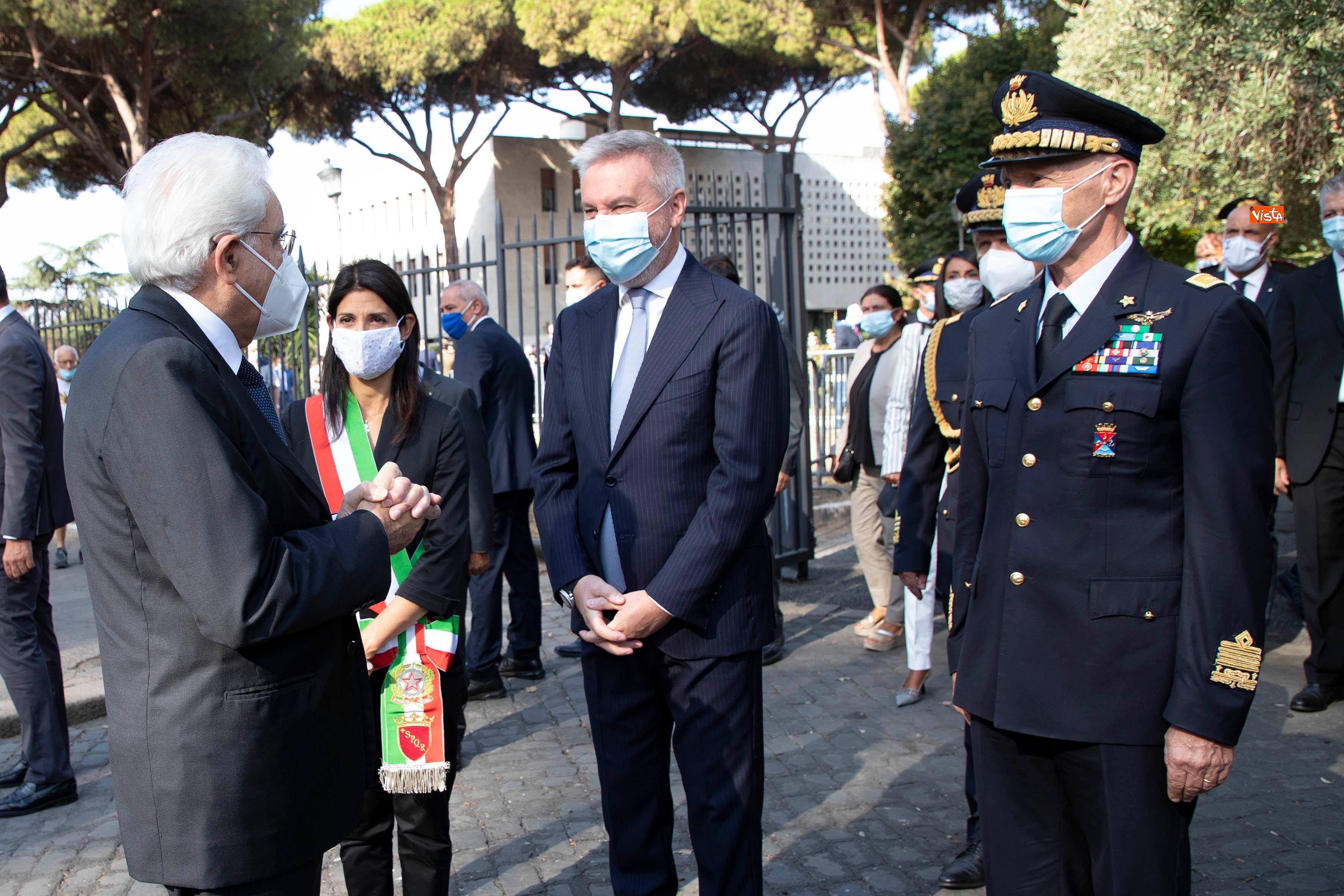 08-09-20 77  anniversario della Difesa di Roma Mattarella a Porta San Paolo e al Parco della Resistenza_12