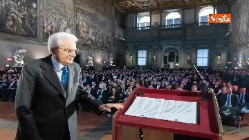 13 - Mattarella partecipa all'inaugurazione anno accademico dell'Università di Firenze a Palazzo Vecchio