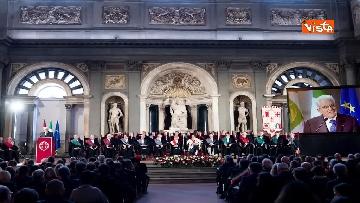 16 - Mattarella partecipa all'inaugurazione anno accademico dell'Università di Firenze a Palazzo Vecchio