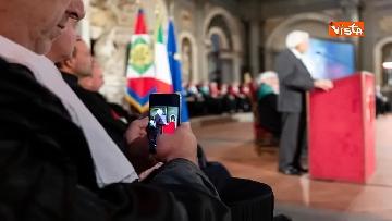 18 - Mattarella partecipa all'inaugurazione anno accademico dell'Università di Firenze a Palazzo Vecchio