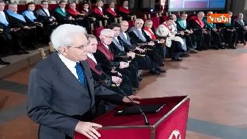 14 - Mattarella partecipa all'inaugurazione anno accademico dell'Università di Firenze a Palazzo Vecchio