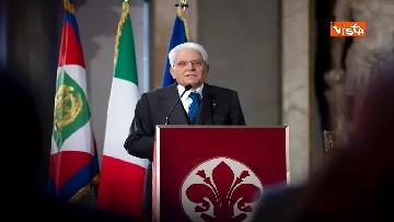 15 - Mattarella partecipa all'inaugurazione anno accademico dell'Università di Firenze a Palazzo Vecchio