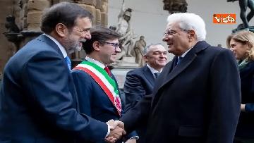 3 - Mattarella partecipa all'inaugurazione anno accademico dell'Università di Firenze a Palazzo Vecchio