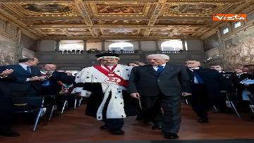 11 - Mattarella partecipa all'inaugurazione anno accademico dell'Università di Firenze a Palazzo Vecchio