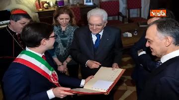 10 - Mattarella partecipa all'inaugurazione anno accademico dell'Università di Firenze a Palazzo Vecchio