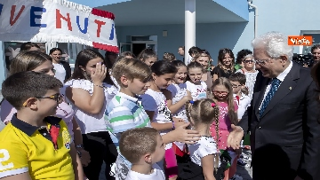 3 - Il Presidente Mattarella visita l'Istituto omnicomprensivo 'Romolo Capranica' di Amatrice