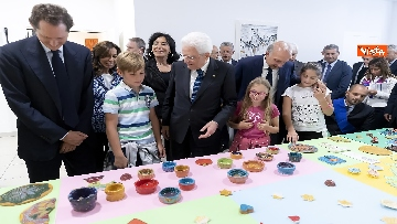 12 - Il Presidente Mattarella visita l'Istituto omnicomprensivo 'Romolo Capranica' di Amatrice
