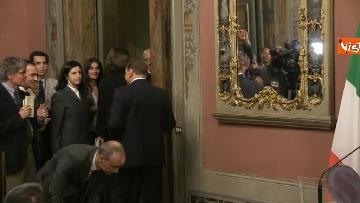 6 - Berlusconi, Bernini e Gelmini al termine delle Consultazioni al Senato