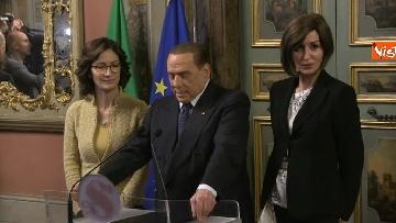 3 - Berlusconi, Bernini e Gelmini al termine delle Consultazioni al Senato