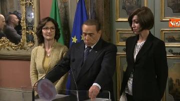 4 - Berlusconi, Bernini e Gelmini al termine delle Consultazioni al Senato