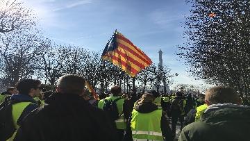 7 - Gilet Gialli sfilano agli Champs Elysee per la 14esima settimana di mobilitazione consecutiva