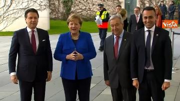 9 - Libia, Merkel accoglie Conte e Di Maio alla Conferenza di Berlino