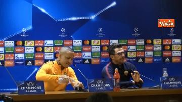 1 - Roma Liverpool la conferenza stampa di Eusebio Di Francesco e Radja Nainggolan