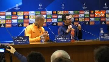4 - Roma Liverpool la conferenza stampa di Eusebio Di Francesco e Radja Nainggolan