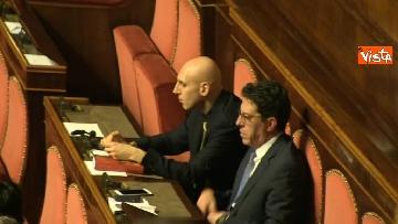 11 - Le prime votazioni per il presidente del Senato con Renzi, Salvini, Iwobi, Segre, Casini, Bossi, Bernini, Bonino, Galliani, Bongiorno, Martelli