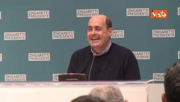 8 - Zingaretti vince alla Regione Lazio, la prima conferenza stampa dopo la riconferma