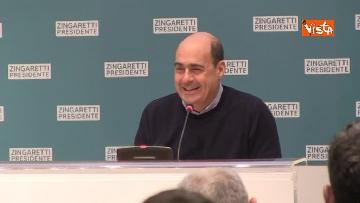 7 - Zingaretti vince alla Regione Lazio, la prima conferenza stampa dopo la riconferma