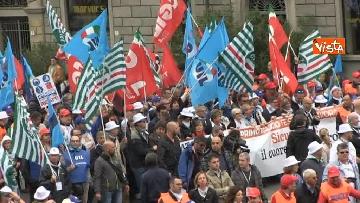 7 - Camusso, Furlan, Barbagallo alla manifestazione del primo maggio a Prato. Presente Martina