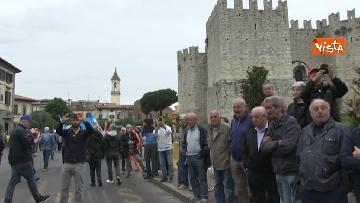 5 - Camusso, Furlan, Barbagallo alla manifestazione del primo maggio a Prato. Presente Martina