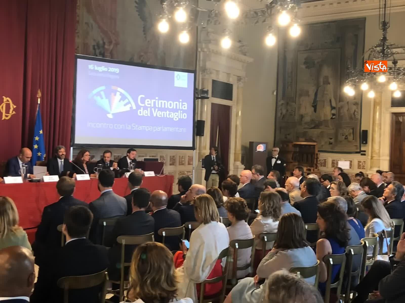 16-07-19 Cerimonia del Ventaglio a Montecitorio Fico incontra la stampa parlamentare immagini