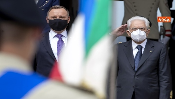 2 - Mattarella incontra il Presidente della Repubblica di Polonia Andrzej Duda
