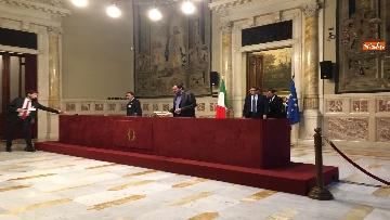 17 - 24-05-18 Consultazioni, la delegazione della Lega con Salvini, Giorgetti, Centinaio