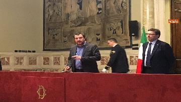 15 - 24-05-18 Consultazioni, la delegazione della Lega con Salvini, Giorgetti, Centinaio