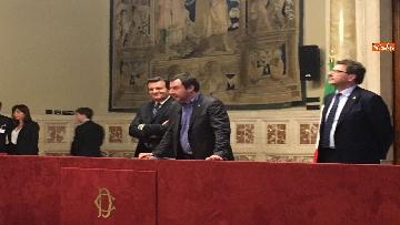 18 - 24-05-18 Consultazioni, la delegazione della Lega con Salvini, Giorgetti, Centinaio