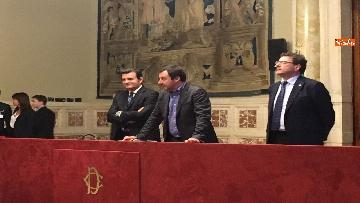14 - 24-05-18 Consultazioni, la delegazione della Lega con Salvini, Giorgetti, Centinaio