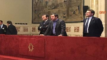 12 - 24-05-18 Consultazioni, la delegazione della Lega con Salvini, Giorgetti, Centinaio