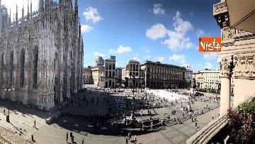 6 - Morti sul lavoro, 1029 sagome bianche in piazza Duomo, l'iniziativa di Ugl