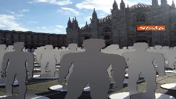3 - Morti sul lavoro, 1029 sagome bianche in piazza Duomo, l'iniziativa di Ugl