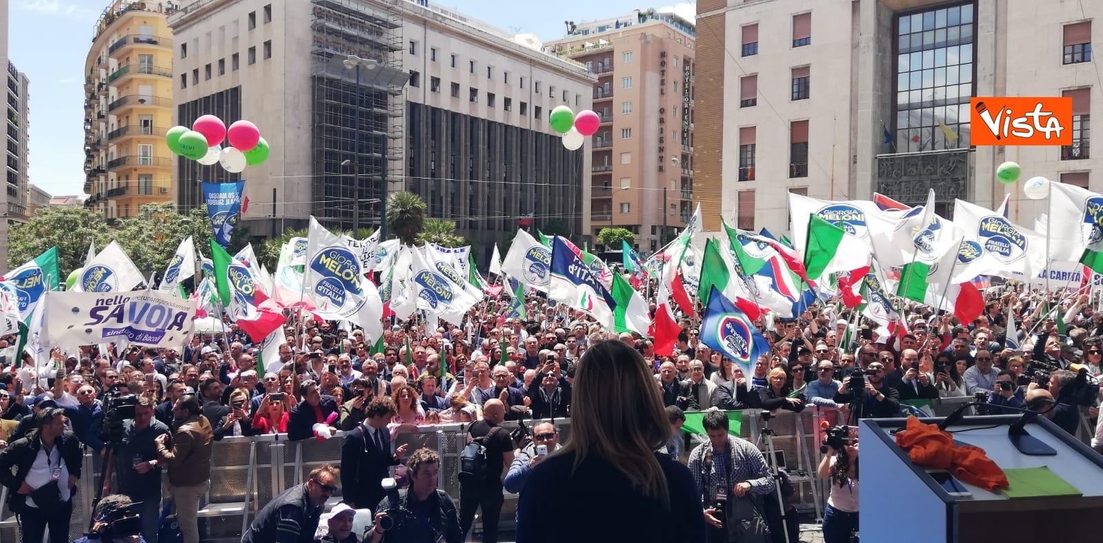 19-05-19 Europee Meloni chiude campagna elettorale a Napoli il comizio in piazza Matteotti_05