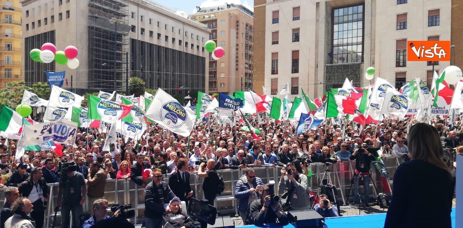 19-05-19 Europee Meloni chiude campagna elettorale a Napoli il comizio in piazza Matteotti_06