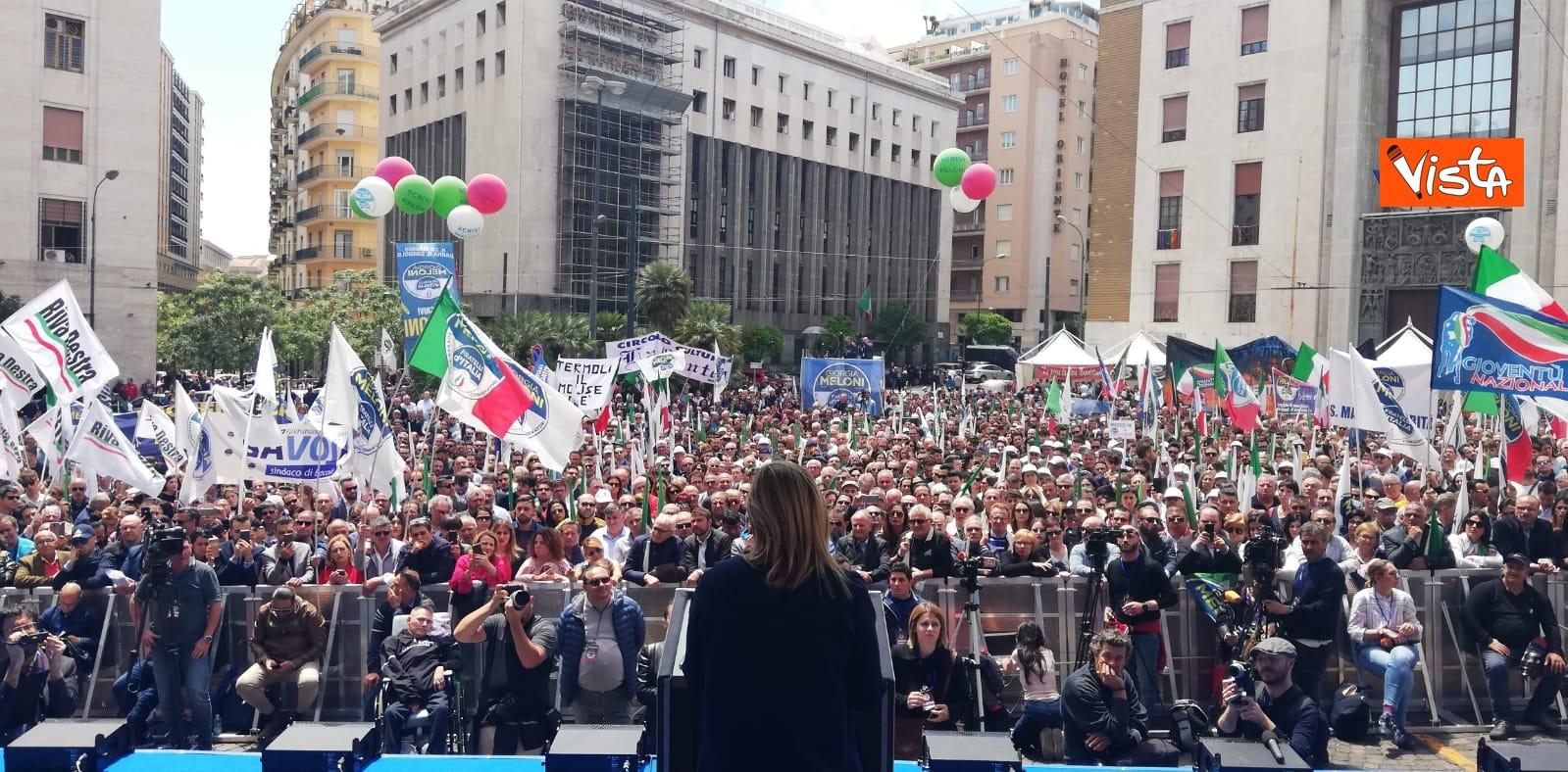 19-05-19 Europee Meloni chiude campagna elettorale a Napoli il comizio in piazza Matteotti_03