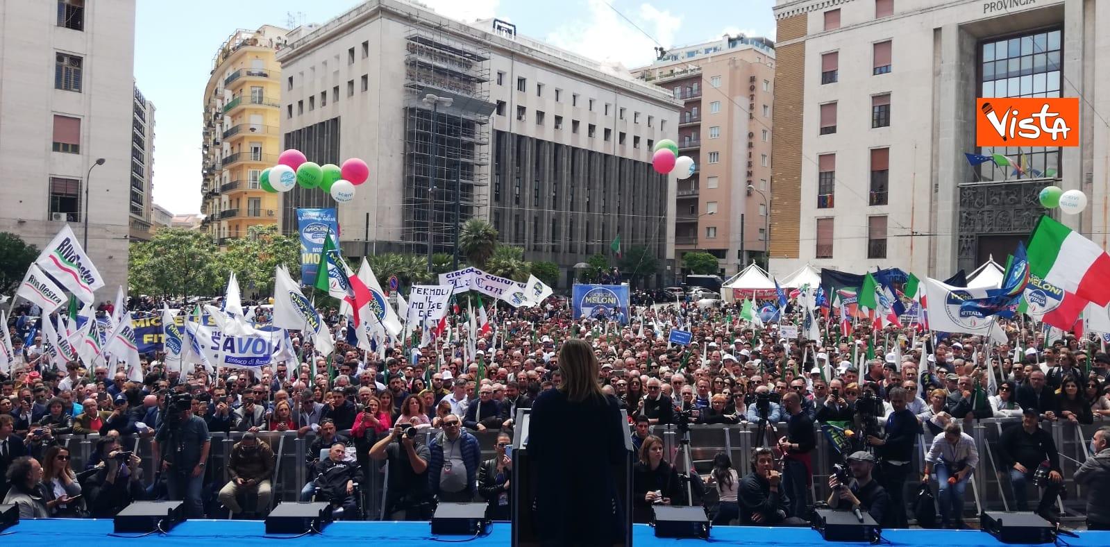 19-05-19 Europee Meloni chiude campagna elettorale a Napoli il comizio in piazza Matteotti_04