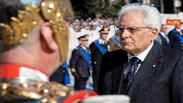 1 - Festa della Repubblica, Mattarella rende omaggio a Monumento Milite Ignoto all'Altare della Patria