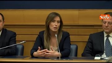 2 - Tragedia Erasmus Spagna, Renzi e Boschi  in conferenza con familiari vittime, immagini