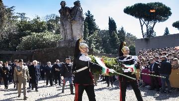 2 - Mattarella alla cerimonia commemorativa del 75° anniversario dell'eccidio delle Fosse Ardeatine