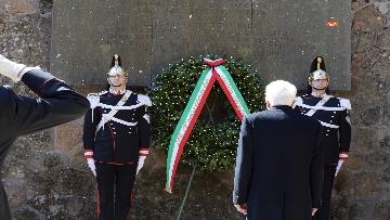 4 - Mattarella alla cerimonia commemorativa del 75° anniversario dell'eccidio delle Fosse Ardeatine