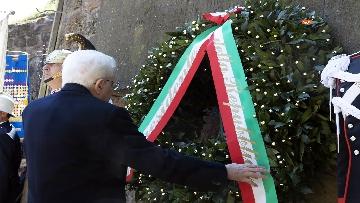 3 - Mattarella alla cerimonia commemorativa del 75° anniversario dell'eccidio delle Fosse Ardeatine