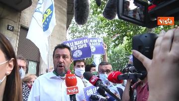 10 - Santa Sofia, Salvini al consolato turco di Milano. Le immagini del presidio