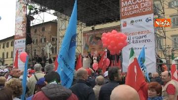 8 - Camusso, Furlan, Barbagallo alla manifestazione del primo maggio a Prato. Presente Martina